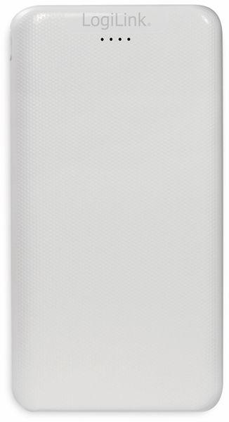 USB Powerbank LOGILINK PA0206W, 10000mAh, LiPo, weiss, 2x USB Ausgang - Produktbild 2