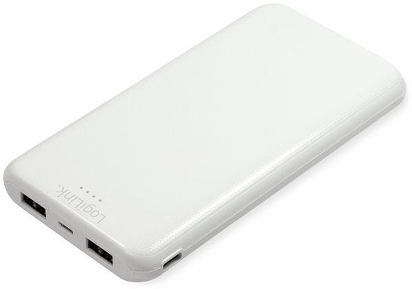 USB Powerbank LOGILINK PA0206W, 10000mAh, LiPo, weiss, 2x USB Ausgang - Produktbild 4