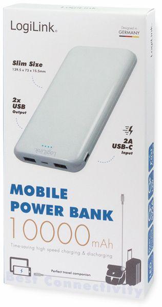 USB Powerbank LOGILINK PA0206W, 10000mAh, LiPo, weiss, 2x USB Ausgang - Produktbild 5