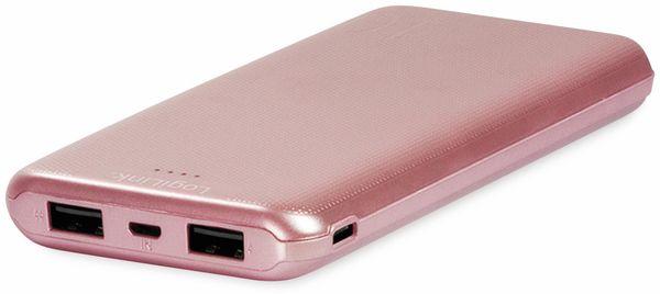USB Powerbank LOGILINK PA0206R, 10000mAh, LiPo, rosegold, 2x USB Ausgang