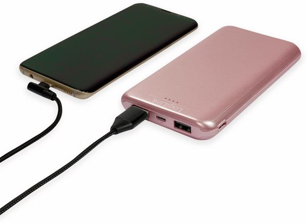 USB Powerbank LOGILINK PA0206R, 10000mAh, LiPo, rosegold, 2x USB Ausgang - Produktbild 3