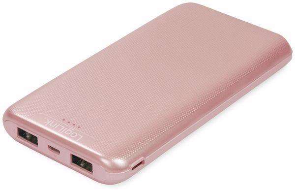 USB Powerbank LOGILINK PA0206R, 10000mAh, LiPo, rosegold, 2x USB Ausgang - Produktbild 4