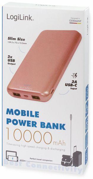 USB Powerbank LOGILINK PA0206R, 10000mAh, LiPo, rosegold, 2x USB Ausgang - Produktbild 5