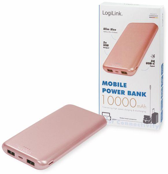 USB Powerbank LOGILINK PA0206R, 10000mAh, LiPo, rosegold, 2x USB Ausgang - Produktbild 6
