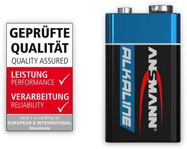 9V-Blockbatterien-Set, ANSMANN ALKALINE, 10 Stück - Produktbild 2