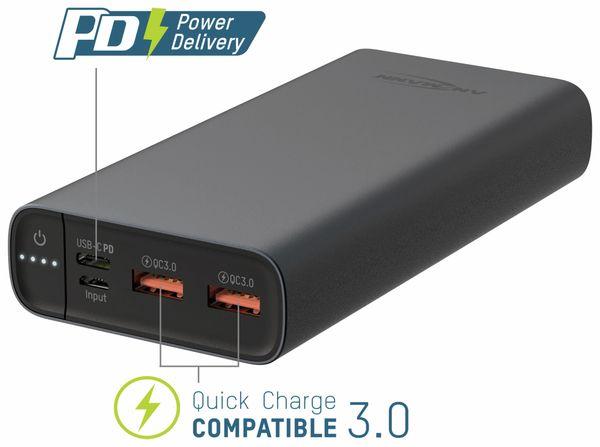 USB Powerbank ANSMANN 20 Ah Type-C, 18 W PD, 20.000 mAh - Produktbild 3