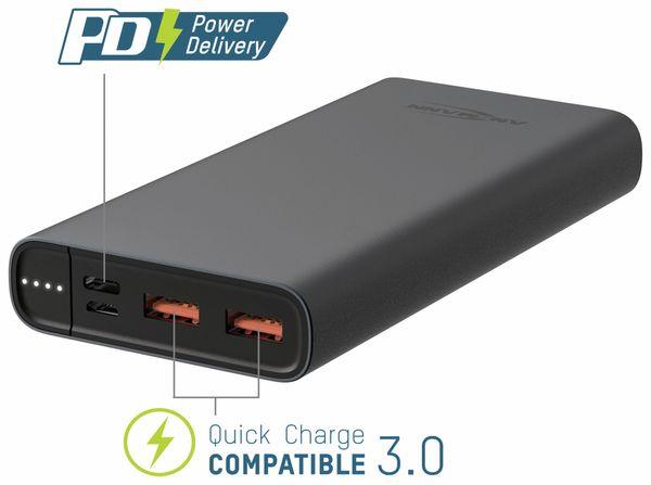 USB Powerbank ANSMANN 15 Ah Type-C, 18 W PD, 15.000 mAh - Produktbild 3