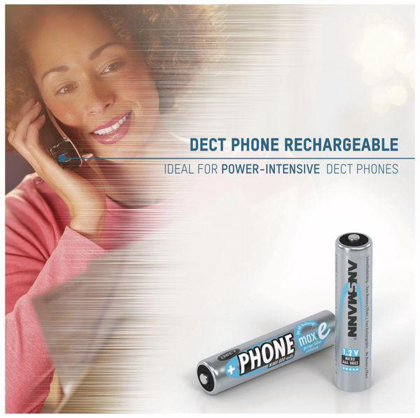 NiMH-Micro-Akku ANSMANN Phone maxE, 800 mAh, 2 Stück - Produktbild 3