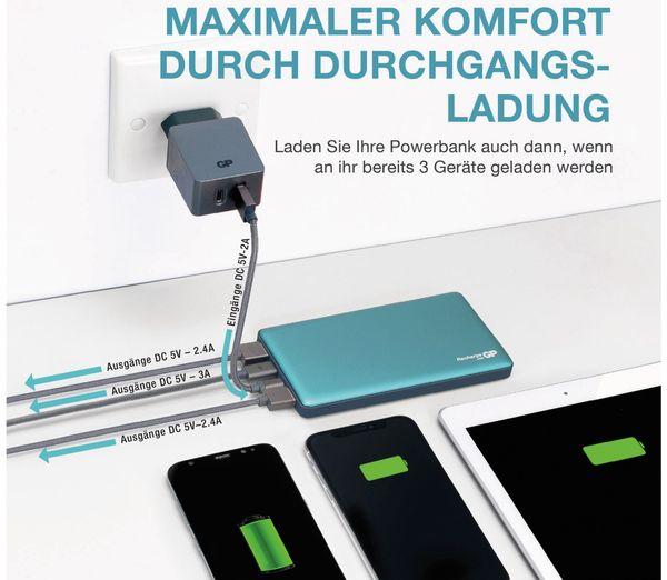 USB Powerbank GP MP10MA, 10.000 mAh, grünblau - Produktbild 2