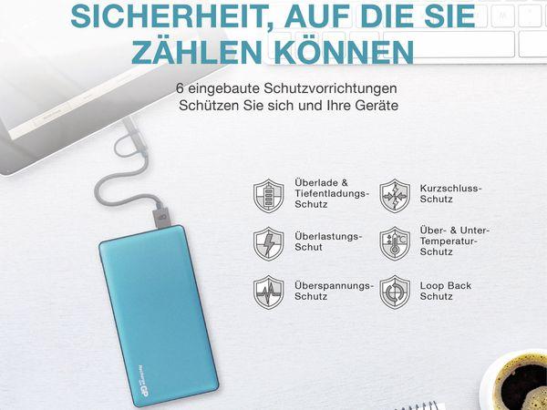 USB Powerbank GP MP10MA, 10.000 mAh, grünblau - Produktbild 3