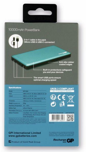 USB Powerbank GP MP10MA, 10.000 mAh, grünblau - Produktbild 5