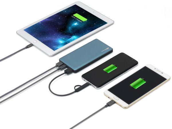USB Powerbank GP MP10MA, 10.000 mAh, grünblau - Produktbild 8