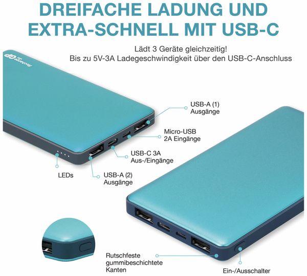 USB Powerbank GP MP10MA, 10.000 mAh, grünblau - Produktbild 14