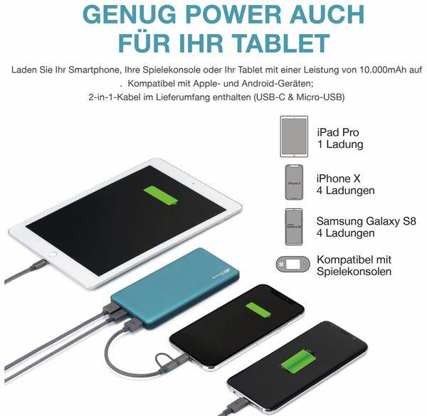 USB Powerbank GP MP10MA, 10.000 mAh, grünblau - Produktbild 15