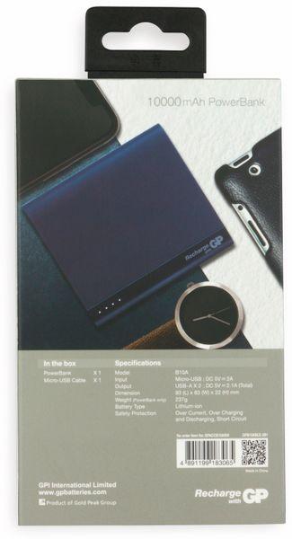 USB Powerbank GP B10A, 10.000 mAh, blau - Produktbild 3
