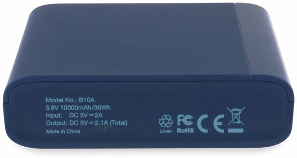 USB Powerbank GP B10A, 10.000 mAh, blau - Produktbild 7