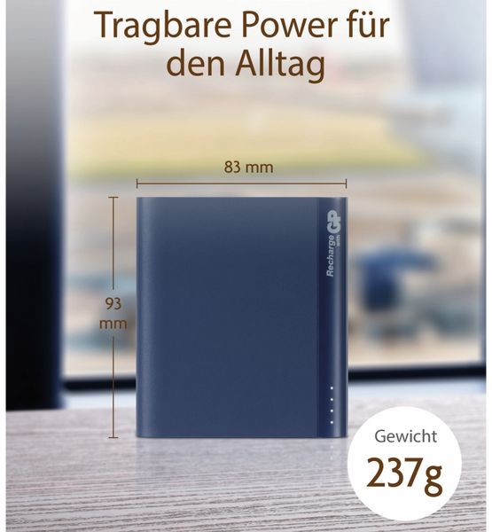 USB Powerbank GP B10A, 10.000 mAh, blau - Produktbild 9
