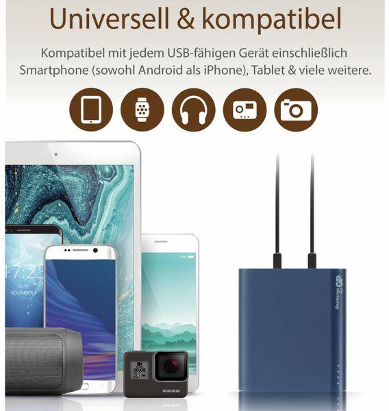 USB Powerbank GP B10A, 10.000 mAh, blau - Produktbild 10