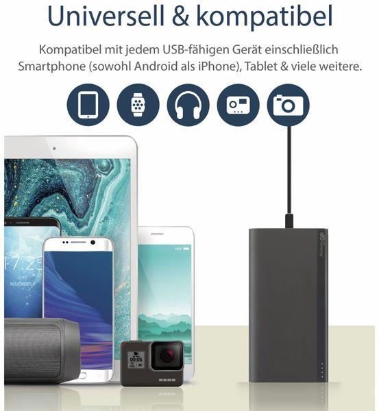 USB Powerbank GP B20A, 20.000 mAh, grau - Produktbild 2