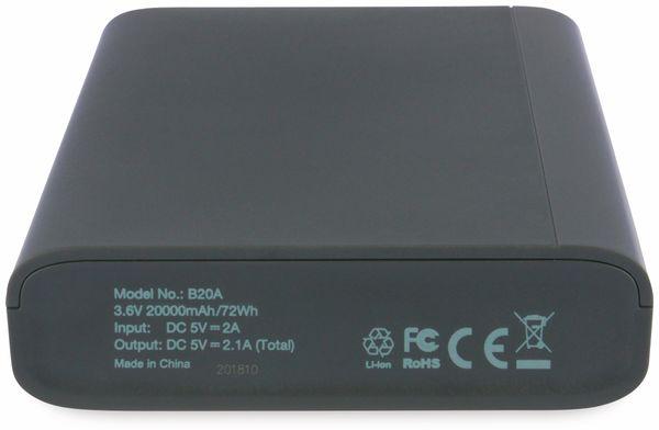 USB Powerbank GP B20A, 20.000 mAh, grau - Produktbild 7