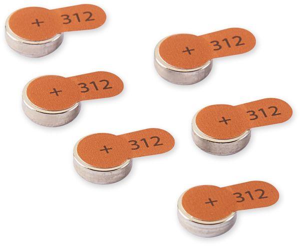 Hörgeräte-Batterie INTENSO, Energy Ultra A 312, 6 Stück, braun - Produktbild 2