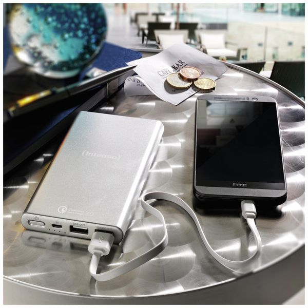USB Powerbank INTENSO 7334531 Q10000, 10.000 mAh, silber - Produktbild 7