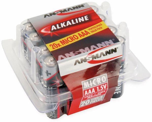 Micro-Batterie-Set ANSMANN, Alkaline, 20 Stück in einer Box, 1,5 V- - Produktbild 2
