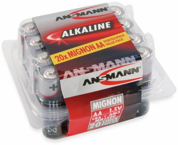 Mignon-Batterie-Set ANSMANN, Alkaline, 20 Stück in einer Box, 1,5 V- - Produktbild 2