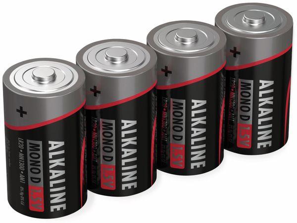 Mono-Batterie ANSMANN, Alkaline, D / LR20, 1,5 V-, 4 Stück