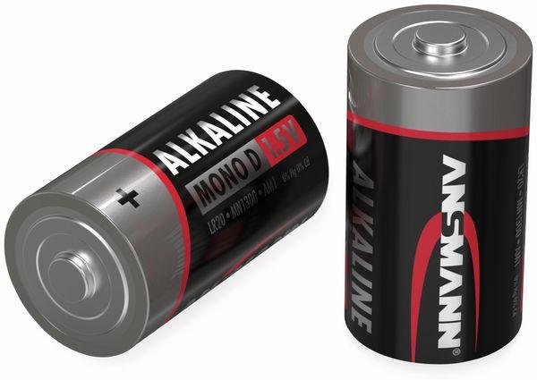 Mono-Batterie ANSMANN, Alkaline, D / LR20, 1,5 V-, 4 Stück - Produktbild 2
