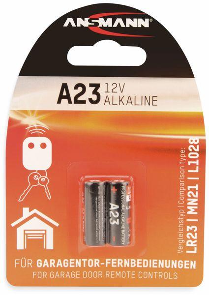 12V-Batterie ANSMANN, Alkaline, A23 / LR23, 2 Stück