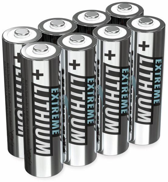 Mignon-Batterie ANSMANN Lithium, AA, 1,5 V-, 8 Stück