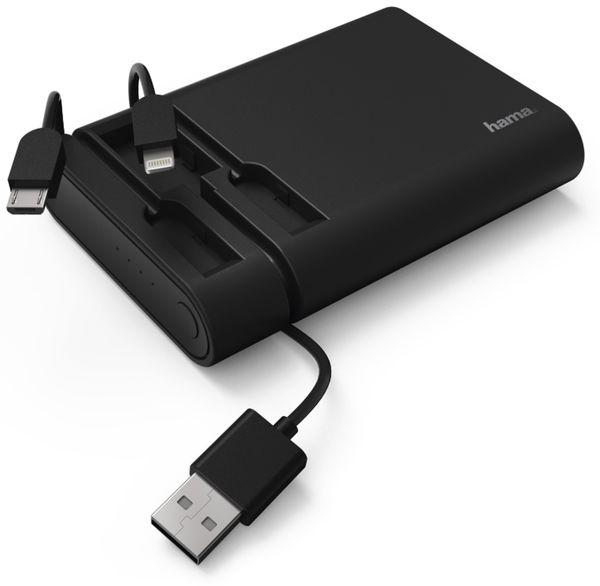 USB Powerbank HAMA 119495, 10.400 mAh, schwarz