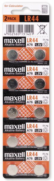 Knopfzelle MAXELL, LR44/AG13, 10 Stück