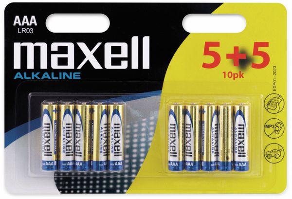 Micro-Batterie MAXELL, Alkaline, AAA. LR03, 10 Stück