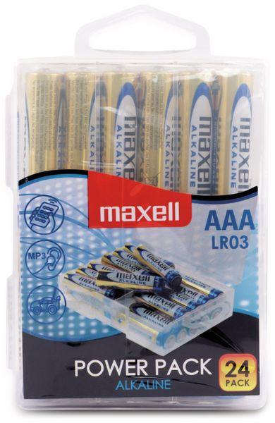 Micro-Batterie MAXELL, Alkaline, AAA, LR03, 24 Stück