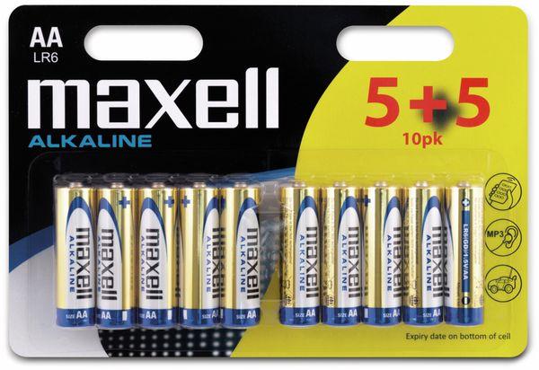 Mignon-Batterie MAXELL, Alkaline, AA, LR6, 10 Stück
