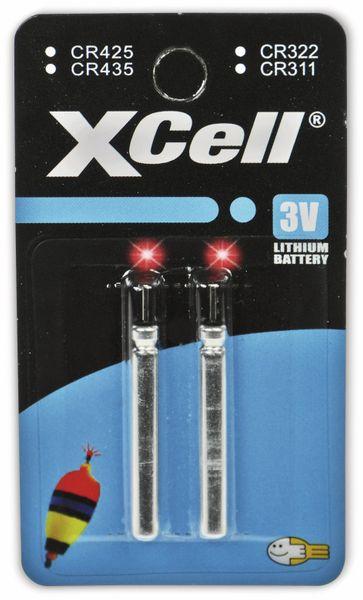 Lithiumstab XCELL, CR435 electronics, 3 V-, 45 mAh, 2 Stück