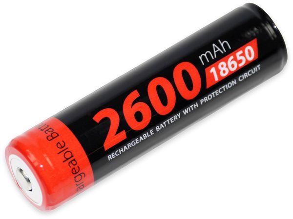 LiIon-Akku XCELL 18650H-2600, 3,7 V-, 2600 mAh, Zelle 4/3 FA