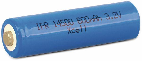 Mignon-Solar Akku XCELL IFR14500 AA, 3,2 V-, 600 mAh, LiFePO4