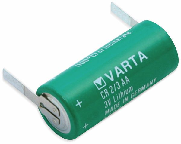 Lithium-Batterie VARTA CR 2/3AA, mit Lötfahnen, 3 V-, 1350 mAh
