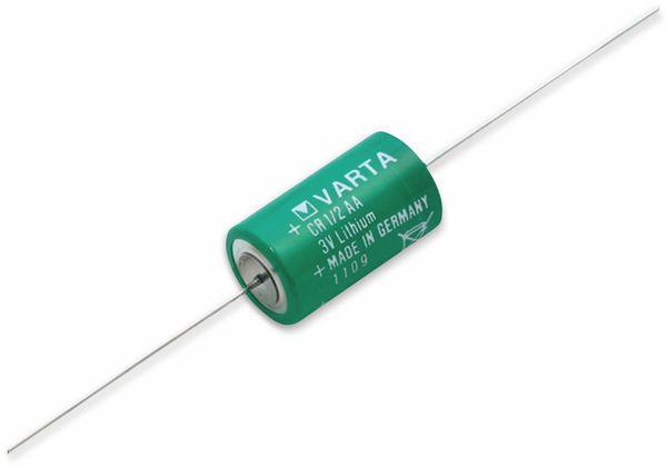 Lithium-Batterie VARTA CR 1/2AA-CD, mit Axialdraht, 3 V-, 950 mAh