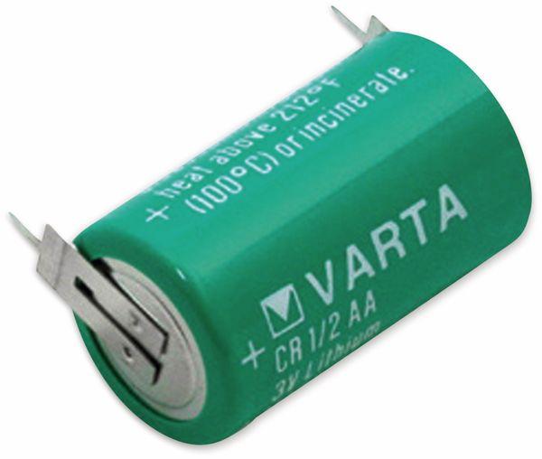 Lithium-Batterie VARTA CR 1/2AA-SLF, Print 1/1+/-, 3 V-, 950 mAh