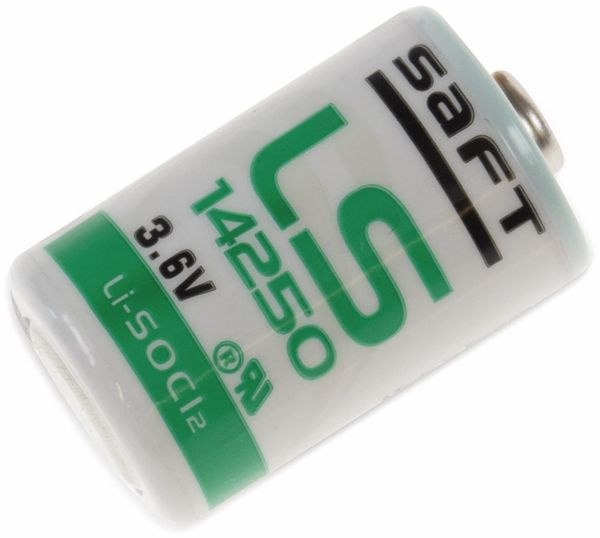 Lithium-Batterie SAFT LS 14250, 1/2 AA (Mignon), 3,6 V-, 1200 mAh