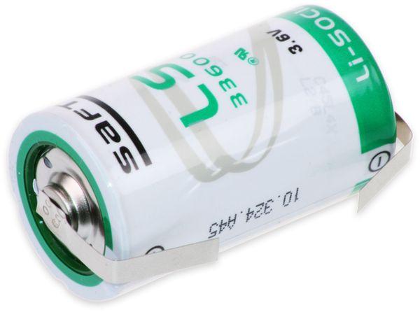 Lithium-Batterie SAFT LS 33600-CNR, D, mit U-Lötfahne, 3,6 V-, 17000 mAh