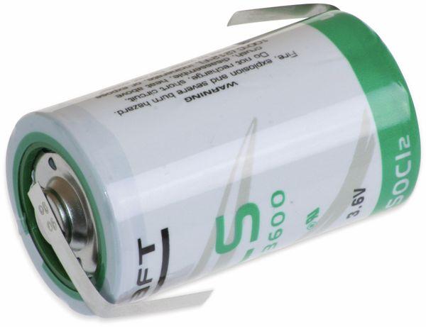 Lithium-Batterie SAFT LS 33600-CNR, D, mit Z-Lötfahne, 3,6 V-, 17000 mAh