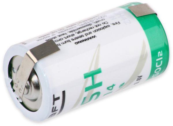 Lithium-Batterie SAFT LSH 14-CNR, C, mit U-Lötfahne, 3,6 V-, 5500 mAh