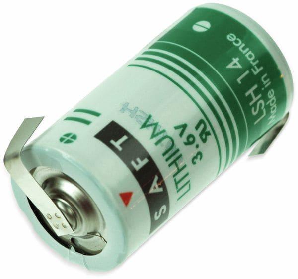 Lithium-Batterie SAFT LSH 14-CNR, C, mit Z-Lötfahne, 3,6 V-, 5500 mAh
