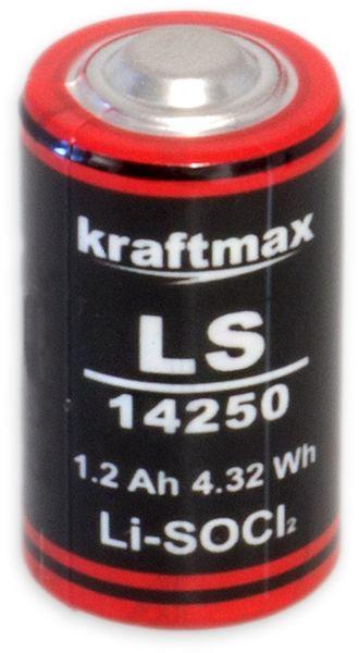 Lithium-Batterie KRAFTMAX LS14250, 1/2 AA-Zelle, 3,6 V-, 1200 mAh