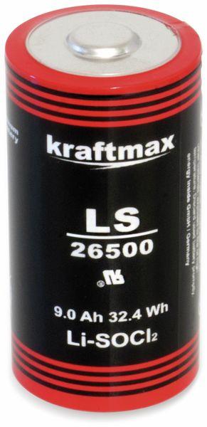 Lithium-Batterie KRAFTMAX LS26500, C-Zelle, 3,6 V-, 9000 mAh